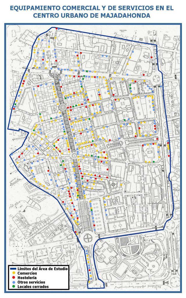 Mapa delimitado del centro comercial abierto